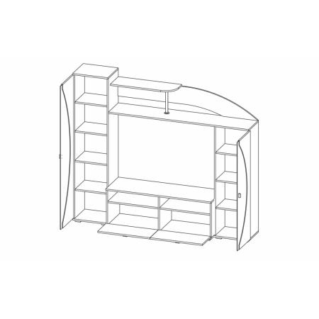 Cтенка горка для гостиной Олимп-М08 венге/дуб линберг