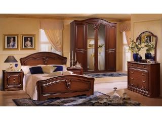 Спальня Валерия 4 орех ФорестДекоГрупп