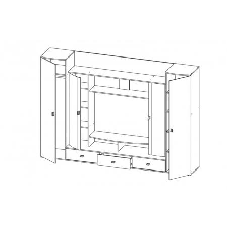 Cтенка горка для гостиной Лаванда-1 венге/ПВХ белый